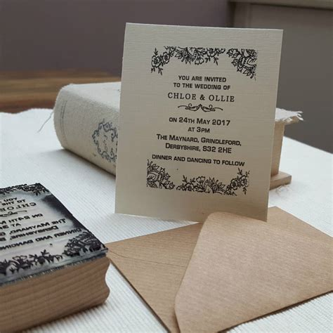 not on the high lace wedding invitations personalised wedding invitation st lace design by pretty rubber sts notonthehighstreet