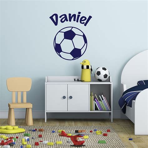 personal wall stickers personalised wall sticker football gettingpersonal co uk
