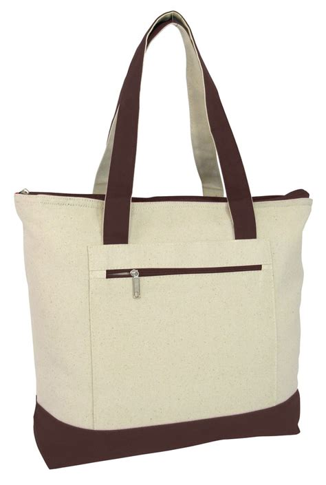 Tote Bag Canvas Dd Maroon heavy canvas zippered shopping tote bags wholesale canvas