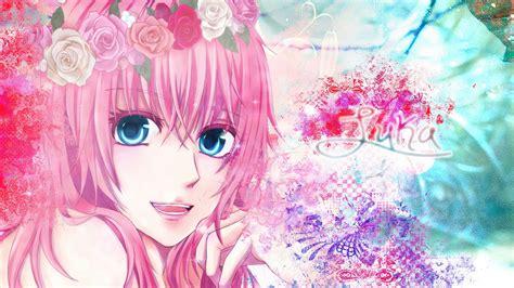 wallpaper anime pink anime girl pink hair wallpaper
