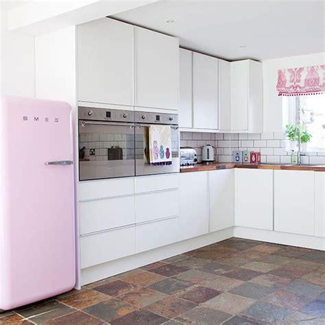 white kitchen ideas uk white and pink kitchen kitchen decorating housetohome
