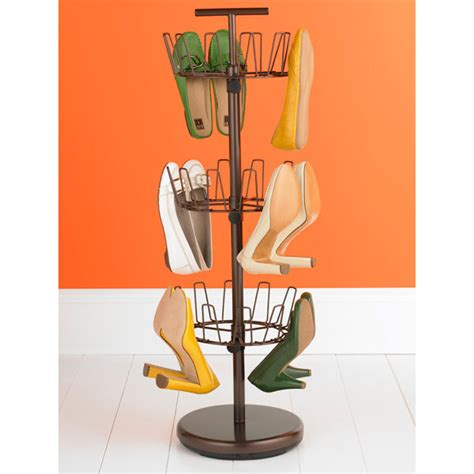 shoe tree storage bronze 3 tier shoe tree the container store
