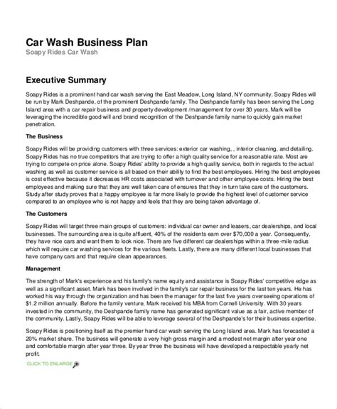 13 Business Plans Free Sle Exle Format Free Premium Templates Auto Detailing Business Plan Template