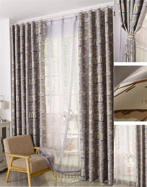 quality blackout curtains thick polyester thermal blackout quality nautical pattern