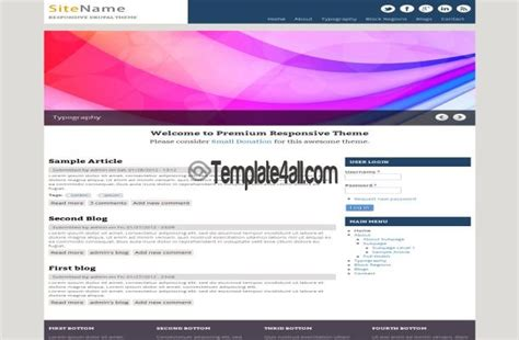 drupal theme add js free brown pink news blog drupal theme template