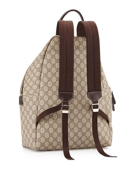 Gucci Gg Supreme Backpack Canvas And Studded Leather 15055 Btc 04 gucci gg supreme canvas backpack beige