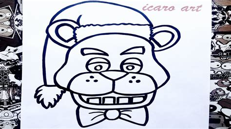 imagenes de fnaf para dibujar faciles como dibujar a freddy navidad how to draw freddy from