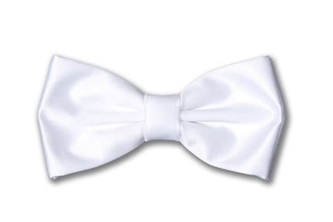 Plain Bow Tie plain satin ready to wear bow tie white bow ties
