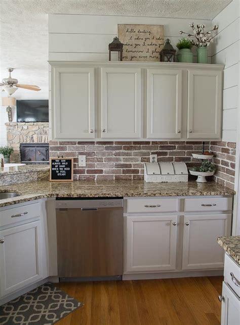 kitchen with brick backsplash easy diy brick backsplash maebells