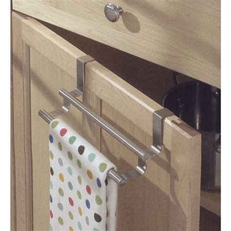 Cabinet Door Towel Rack The Cabinet Door Kitchen Towel Bar Allows You To Hang A Towel A Cabinet Door In