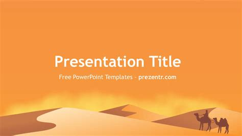 Desert Powerpoint Background Free Desert Powerpoint Template Prezentr Ppt Template
