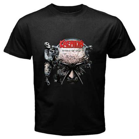 Tshirt Kreator Black new kreator enemy of god metal rock band s black t