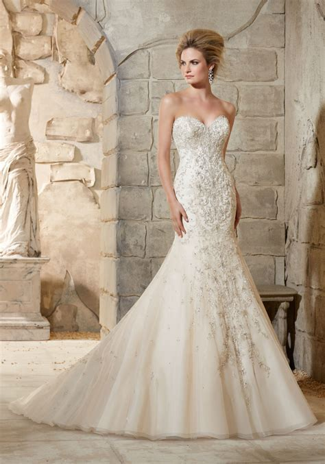 beaded bridal gown crystal beaded embroidery over net wedding dress style