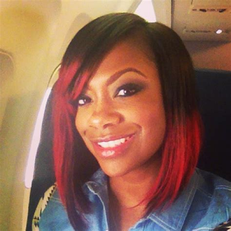 kandi bob kandi burruss cuts her hair in trendy bob photo kandi