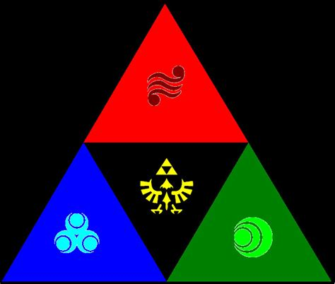 triforce colors colored triforce by ley meister on deviantart