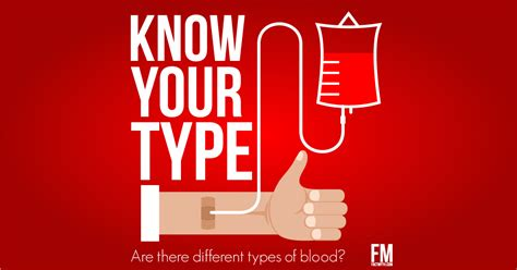 blood types there are different blood types fact or myth