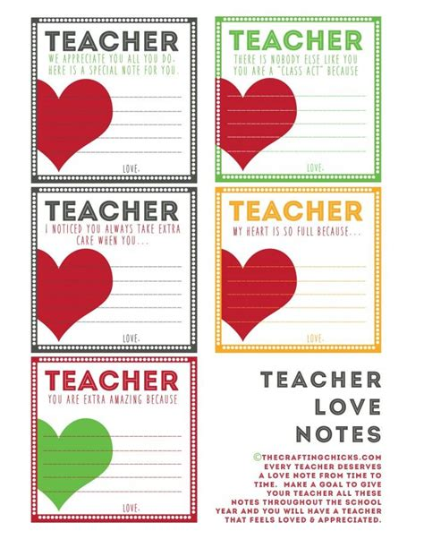 film love notes teacher love notes back to school printables
