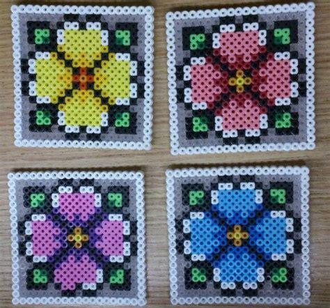 flower coasters hama perler by sonja ahacarne hama