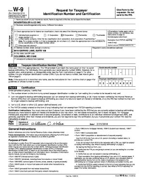 W 9 2016 Fillable Form - Fill Online, Printable, Fillable ... W 9 Form Fillable Printable 2016