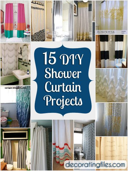 How To Make A Shower Curtain by 15 Diy Shower Curtain Projects Anyone Can Make