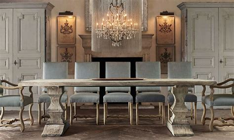 Dining Room Tables Restoration Hardware Rooms Restoration Hardware Bleached Dated Wood Tresses Table Country Dining