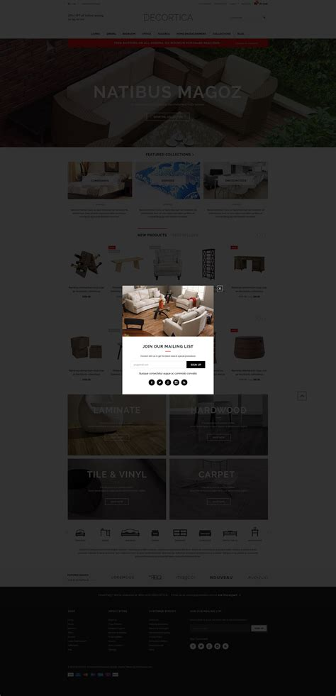 Decortica Responsive Shopify Template Halothemes Com Shopify Mobile Template