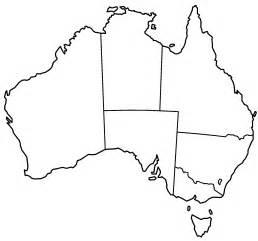 Australia Outline Map by Australia Political Map Outline Clipart Best