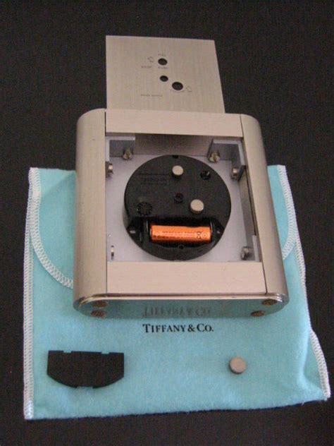 tiffany desk clock battery tiffany co swiss white metal desk clock for sale