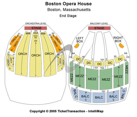 boston opera house seating boston opera house seating chart tickets events and schedule