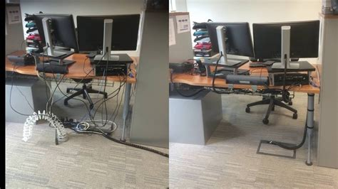 desk cable management solutions under desk cable management youtube