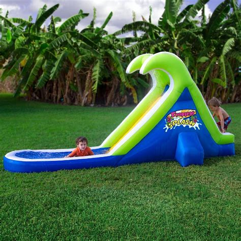 backyard slides tropical splash inflatable water slide by blast zone