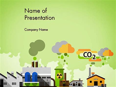 Water Pollution Powerpoint Templates And Backgrounds For Air Pollution Ppt Templates Free