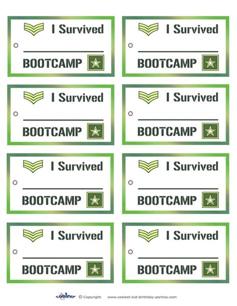 printable army stationery printable army favor tags coolest free printables