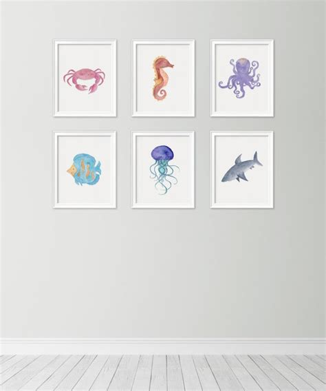 Seashell Bathroom Ideas by Beach Themed Nursery Wall Decor Thenurseries
