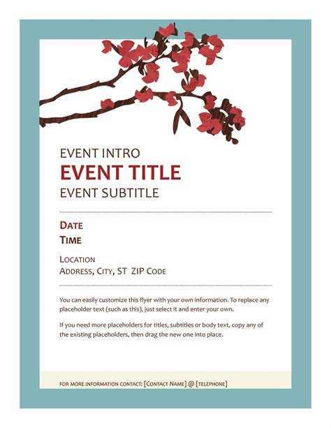 printable event program template calendar month printable