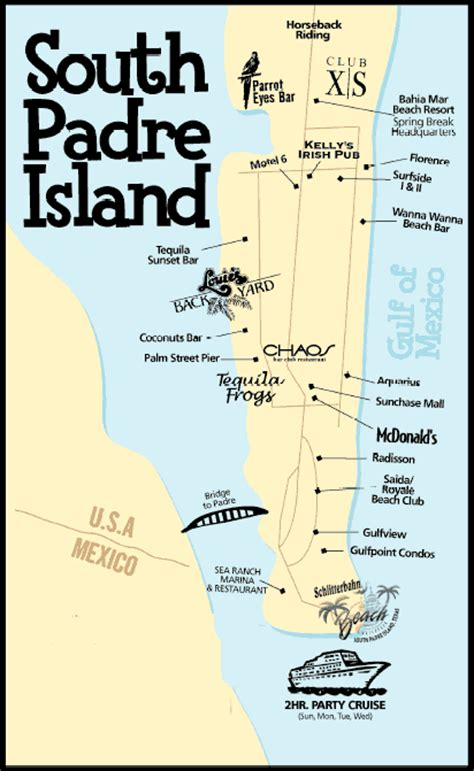 map south padre island texas south padre texas 2018 destinations now