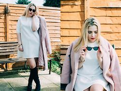 Roller Parka Dusty Pink Zt7108 ashleigh dougherty topshop gingham dress topshop adonis boots h m fedora hat dust on the