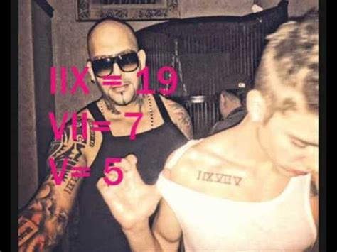 roman numeral tattoo justin bieber meaning justin bieber tattoo i ix vii v roman numeral meaning