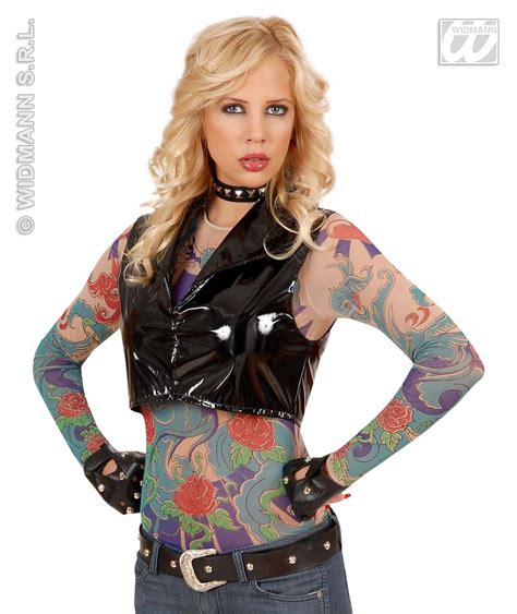 tattoo girl costume carnival costumes tattoo shirt angelwings fancy dress