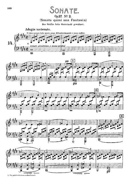 """Sonata per pianoforte n. 14 """"Chiaro di luna"""" (Piano Sonata"""