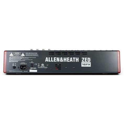 Mixer Allen Heath Zed 22 Fx jual allen heath zed 16fx usb mixer with effects