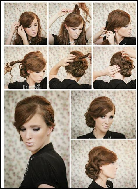 hairstyles how to do a side bun images
