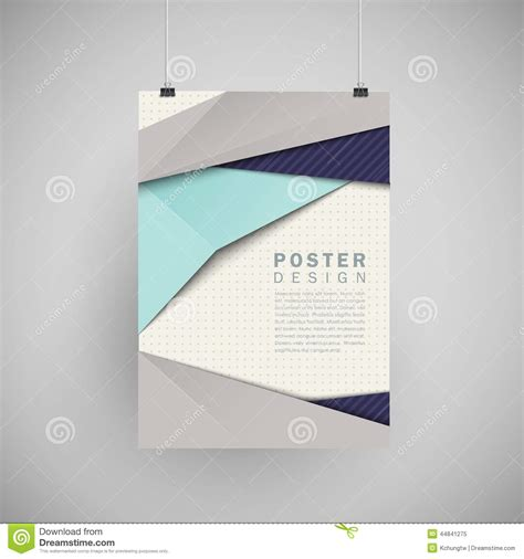 poster abstract layout modern abstract poster template set stock vector image