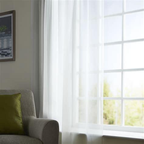 net curtains wilko wilko slot top voile panel white 145 x 137cm at wilko com