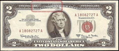 dollar bill united states legal red seal