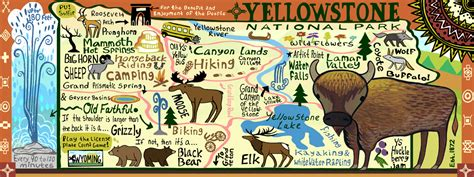 yellowstone national park map usa yellowstone national park usa by kaitlyn mccane they
