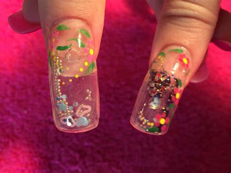 aquarium design nail art acrylic nails how to aquarium nail youtube