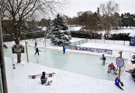 backyard hockey rinks from simple to elaborate the