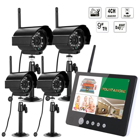 9inch lcd monitor dvr wireless kit home cctv security