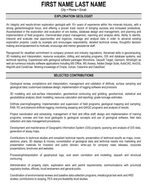 Mba And Gas Consultant Sle Resume by Cover Letter Exles For Geologist 28 Images Applying